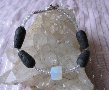 Lavasteen Opaliet Armband 1