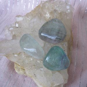 Fluoriet Trommelsteen Medium
