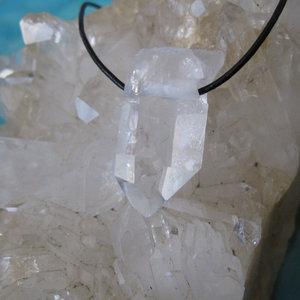 Bergkristalpunt Hanger Ruw met veter 5