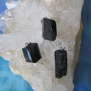 Toermalijn Kristal Hanger Zwart